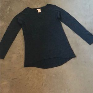 Charcoal crew neck casual sweater